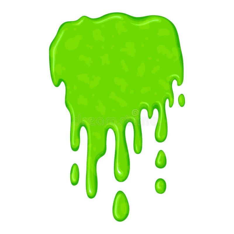 Новый зеленый символ шлама иллюстрация вектора