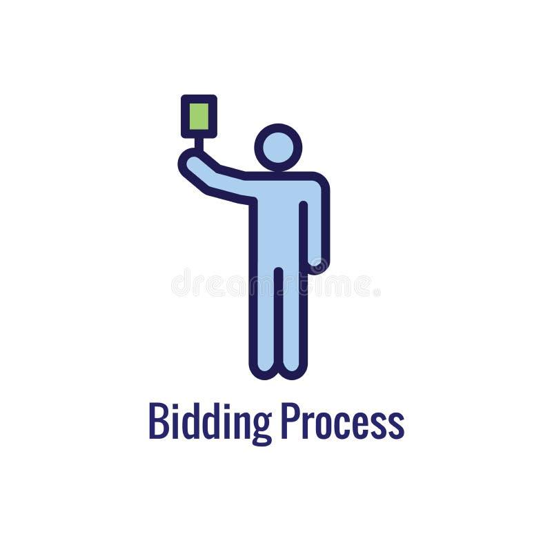 Новый значок бизнес-процесса   Предлагать цену участок процедуры иллюстрация штока