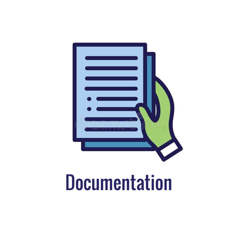 Новый значок бизнес-процесса, участок документации иллюстрация штока