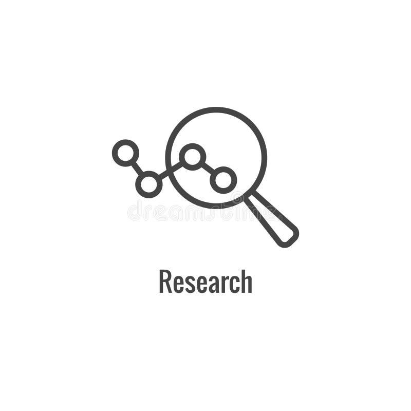 Новый значок бизнес-процесса   Участок исследования иллюстрация вектора