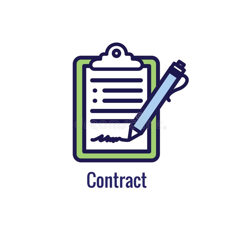 Новый значок бизнес-процесса | Участок подписания контракта бесплатная иллюстрация