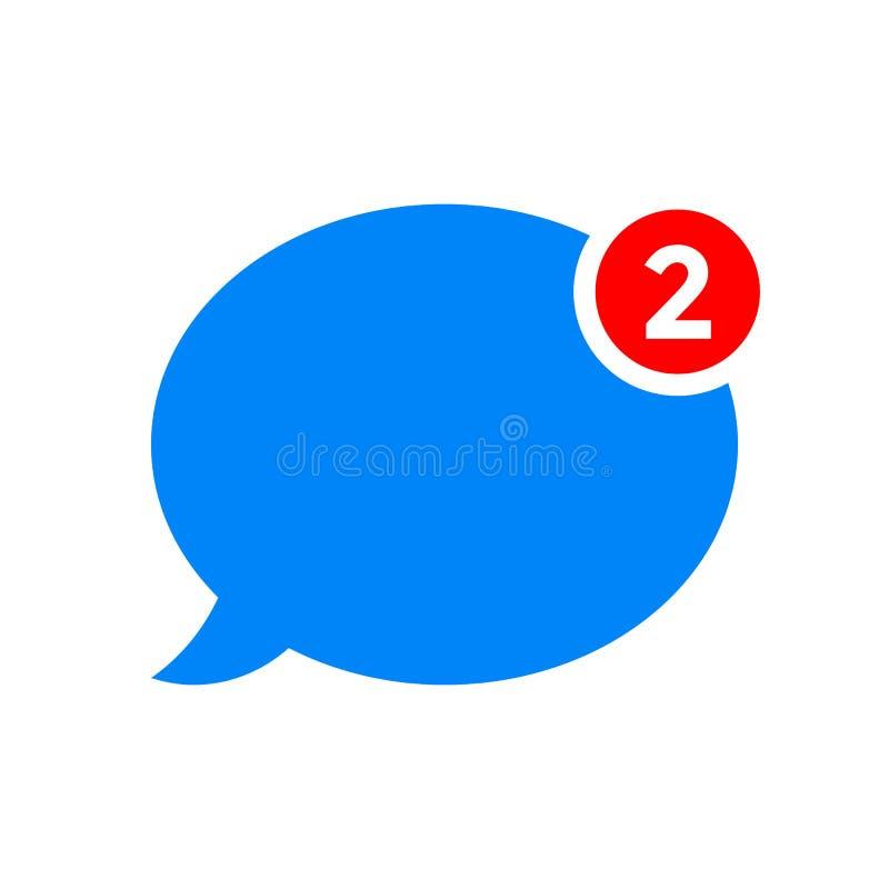 Новый значок вектора уведомления сообщения болтовни бесплатная иллюстрация