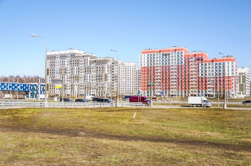 """Новый красивый полуфабрикат блок комплекса """"Severnyj """"квартир жилого се стоковые фотографии rf"""