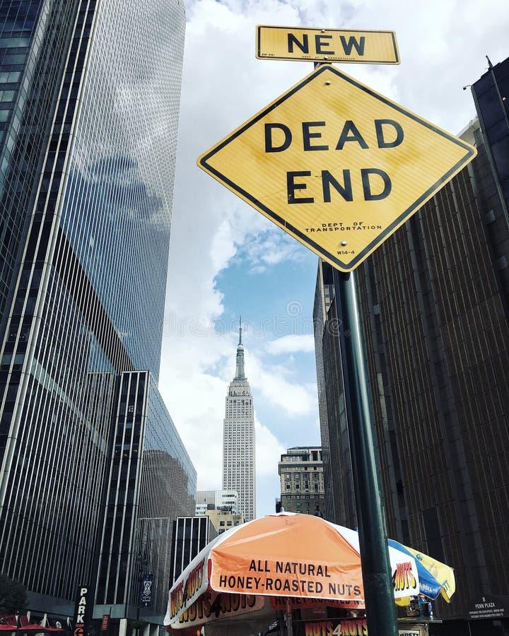 Новый мертвый конец стоковые фото