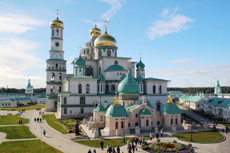 Новый монастырь Jerusalim, Россия стоковое фото