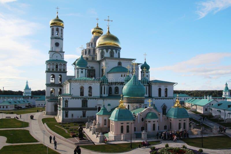 Новый монастырь Jerusalim, Россия стоковые фотографии rf