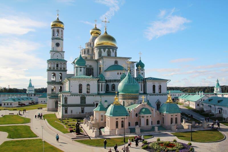 Новый монастырь Jerusalim, Россия стоковая фотография