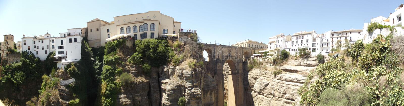 Новый мост на Ronda, Малаге, Андалусии стоковые фото