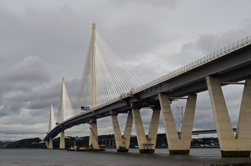 Новый мост скрещивания Queensferry стоковые изображения