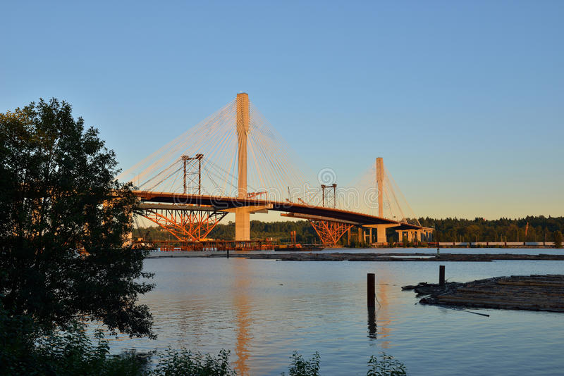 Новый мост Mann порта стоковое изображение
