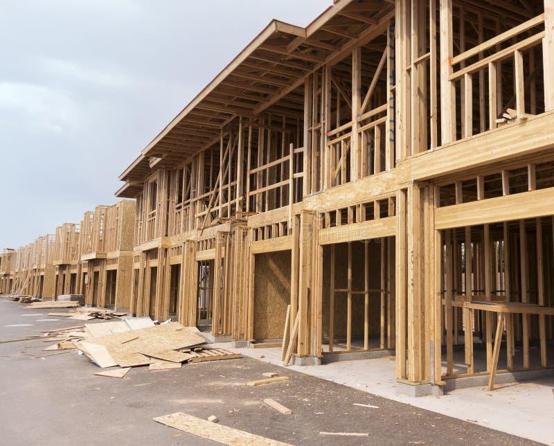 Новый дом под конструкцией стоковое фото rf