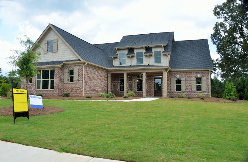 Новый дом для продажи, Bogart, Georgia стоковая фотография