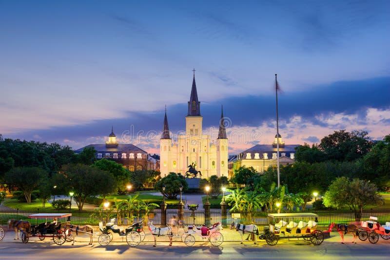 Новый Орлеан на квадрате Джексона стоковое изображение