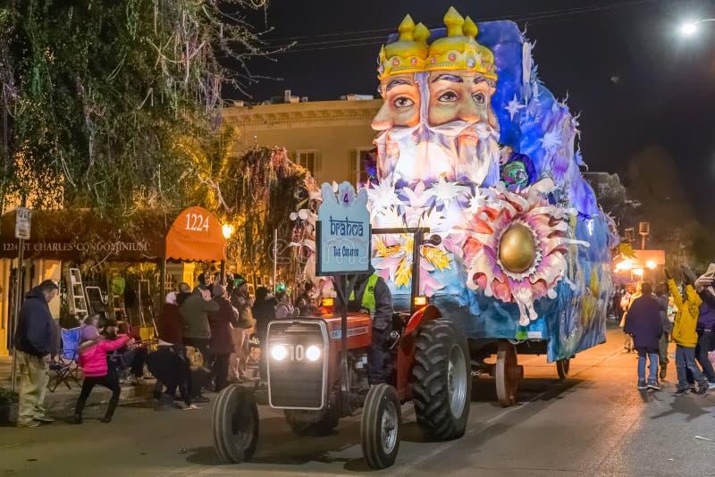 Новый Орлеан, LA/USA - около февраль 2016: Создатель, Brahma, в параде во время марди Гра в Новом Орлеане, Луизиана стоковая фотография rf