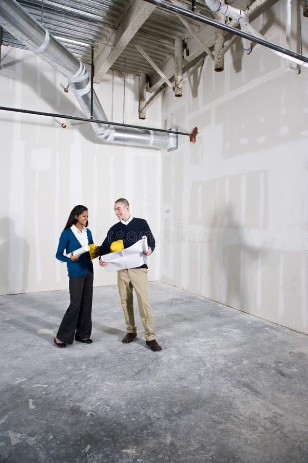 новый офис remodeling космос незаконченный стоковое фото