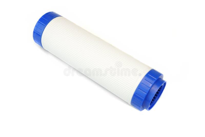 Новый патрон водяного фильтра угля изолированный на белой предпосылке стоковая фотография rf