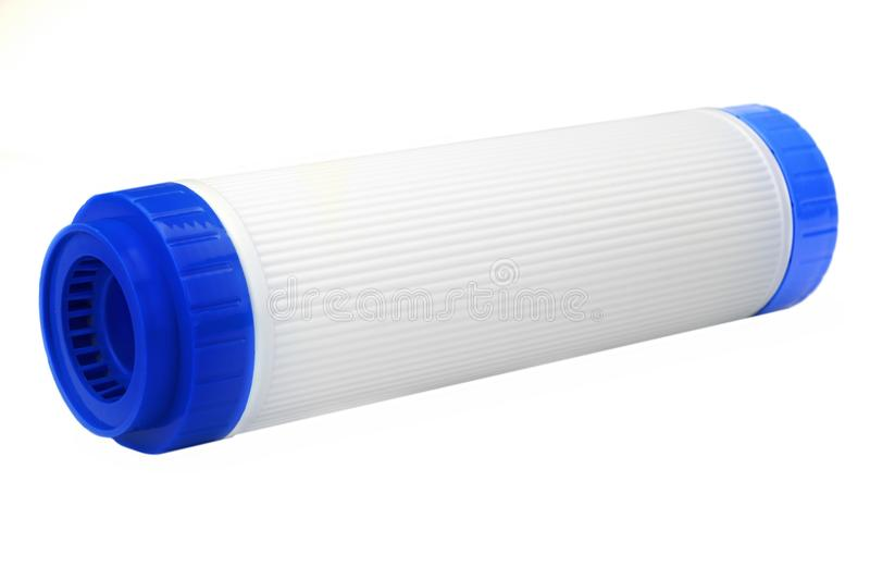 Новый патрон водяного фильтра угля изолированный на белой предпосылке стоковые фотографии rf