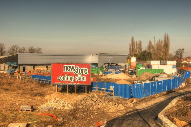 Новый продовольственный магазин, конструкция. стоковое фото