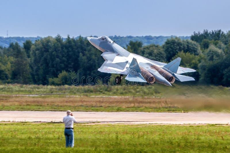 Новый русский боец T-50 пят-поколения стоковое изображение