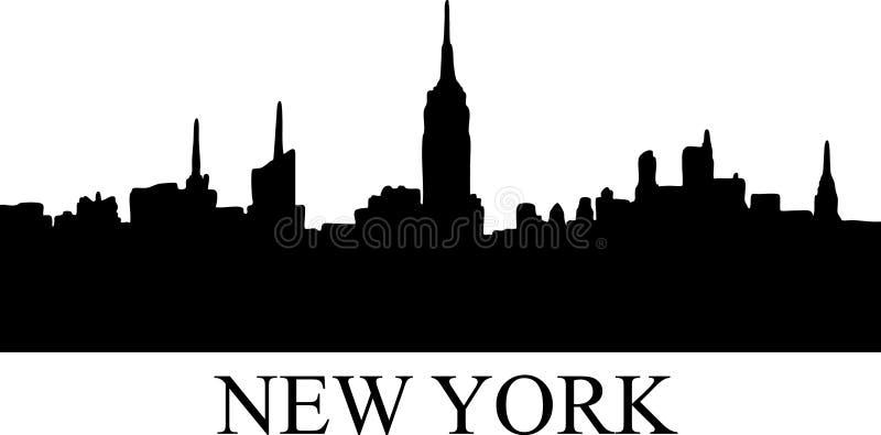 новый силуэт york иллюстрация штока