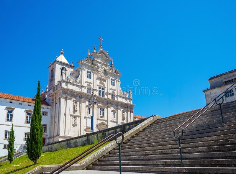 Новый собор Коимбры, Новы Se Португалия стоковое фото