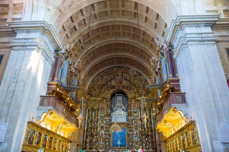Новый собор Коимбры, Новы Se Португалия стоковое изображение