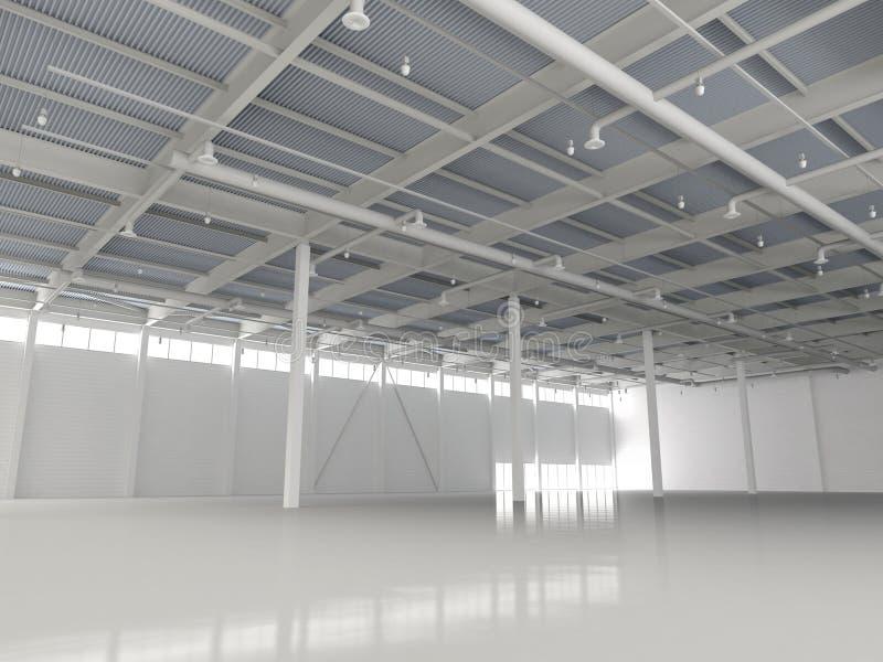 Новый современный пустой Storehouse стоковое фото
