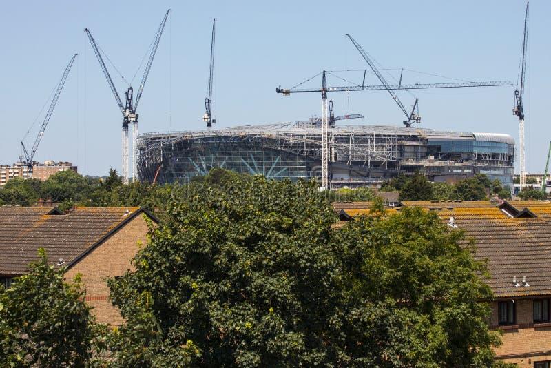 Новый стадион Tottenham Hotspur под конструкцией стоковые фото