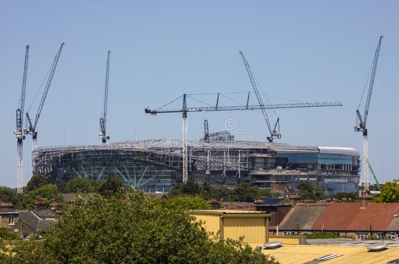 Новый стадион Tottenham Hotspur под конструкцией стоковая фотография