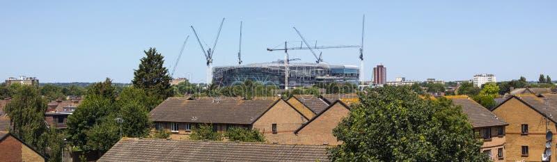 Новый стадион Tottenham Hotspur под конструкцией стоковые фотографии rf