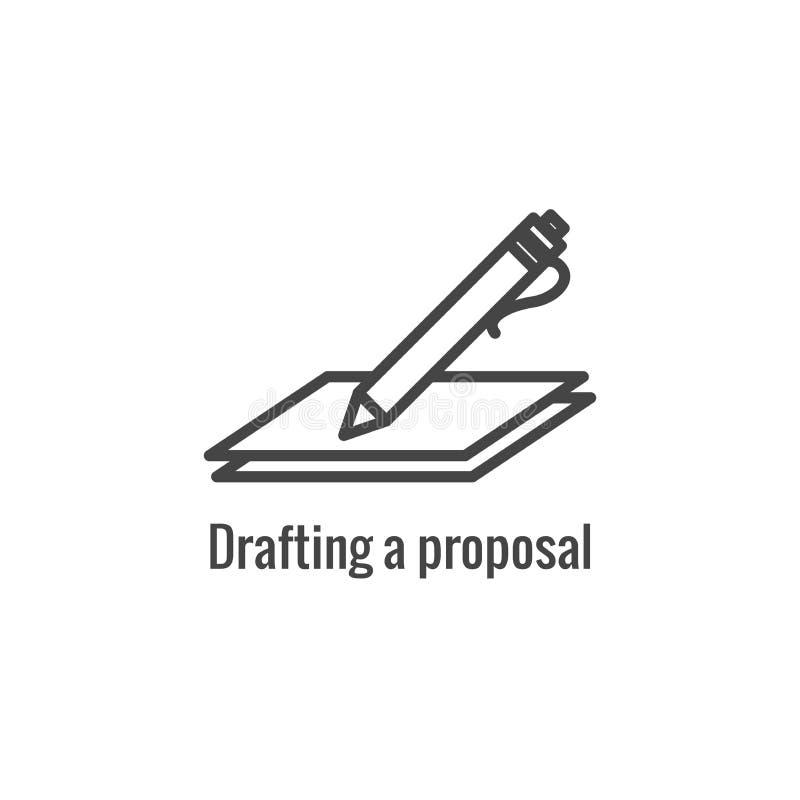 Новый участок проекта предложения w значка бизнес-процесса иллюстрация штока