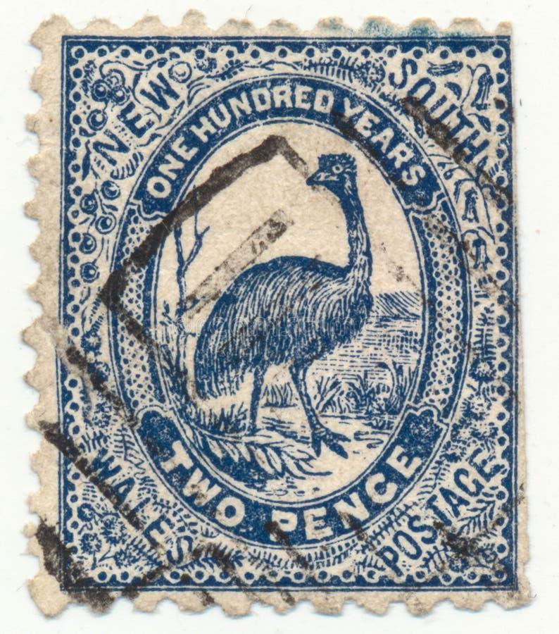 НОВЫЙ УЭЛЬС, АВСТРАЛИЯ - CA 1888 стоковое изображение