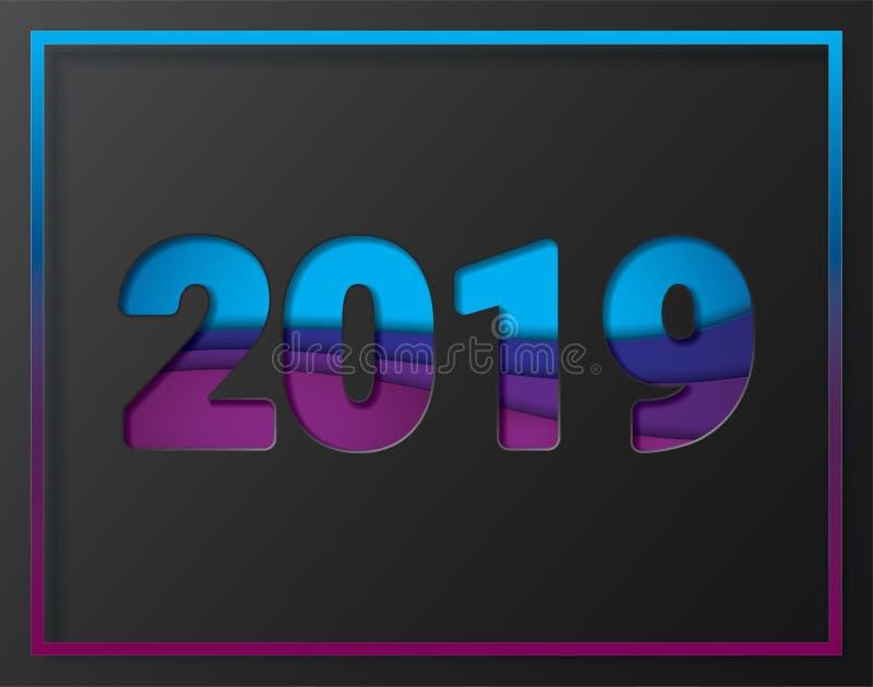 2019 Новых Годов на заднем плане стоковые фото