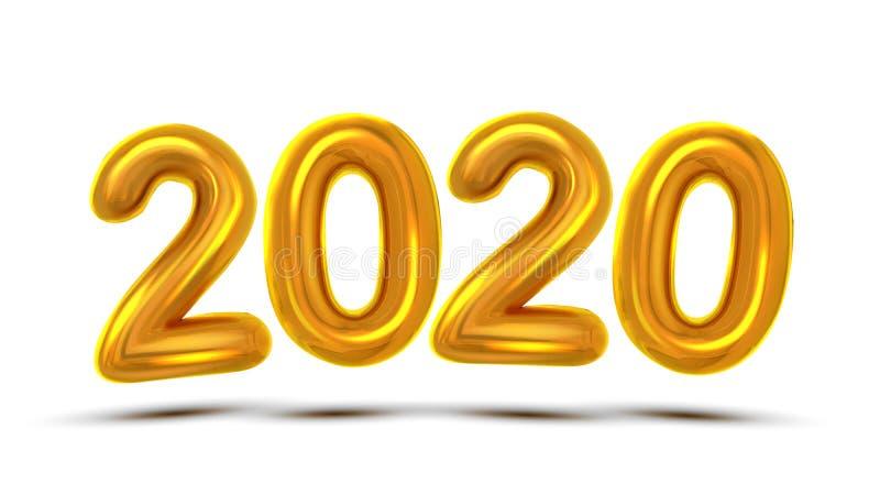 2020 Новых Годов празднует вектор знамени концепции бесплатная иллюстрация