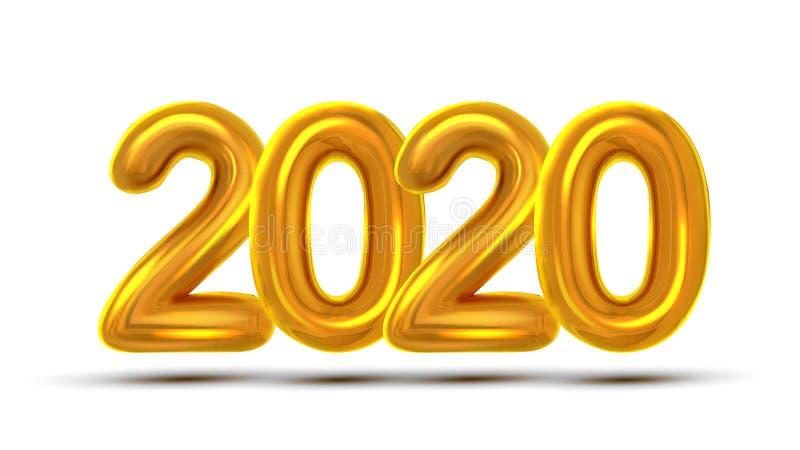 2020 Новых Годов празднует вектор знамени концепции иллюстрация вектора