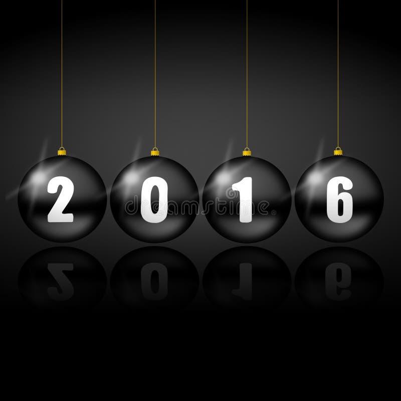 2016 Новых Годов иллюстрации иллюстрация штока
