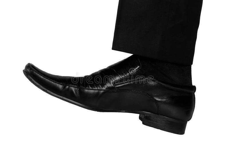 Нога бизнесмена стоковая фотография rf