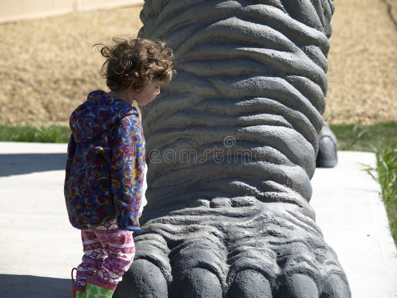 нога динозавра стоковое фото rf