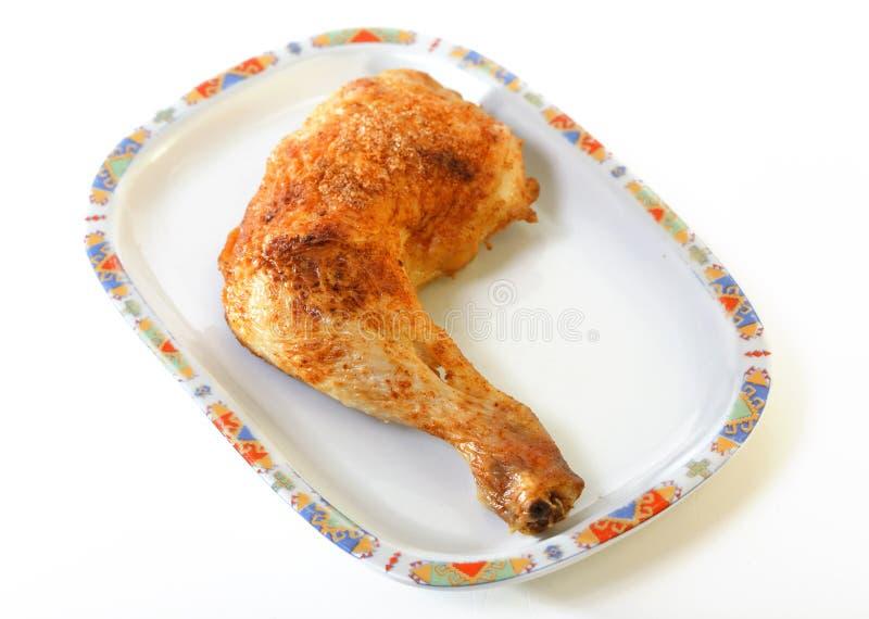 нога зажаренная цыпленком стоковое изображение rf
