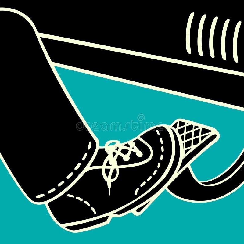 Нога на педали газа бесплатная иллюстрация