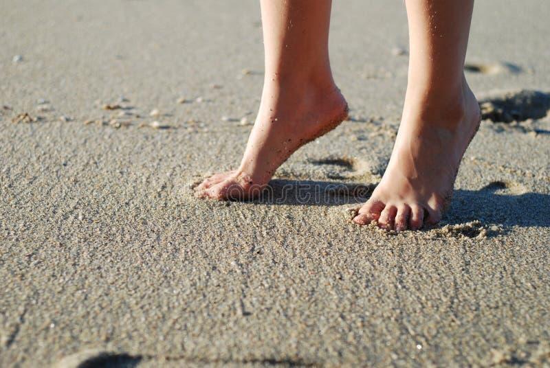 нога пляжа стоковое фото