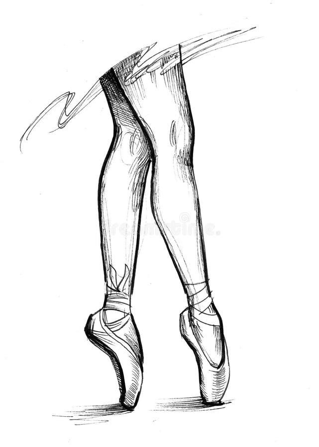 Ноги балерины иллюстрация штока
