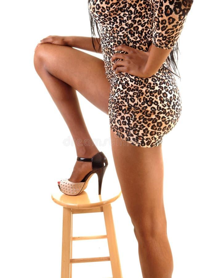 Ноги высокорослой девушки. стоковая фотография rf