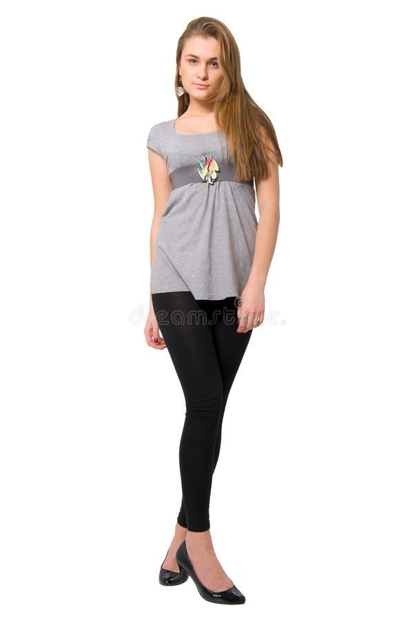 ноги девушки способа красотки длиной стоковое фото rf