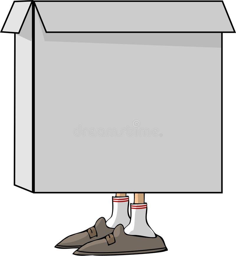 ноги коробки бесплатная иллюстрация