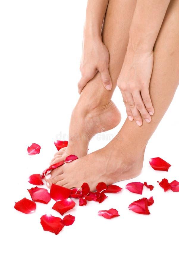 ноги массажа стоковое фото