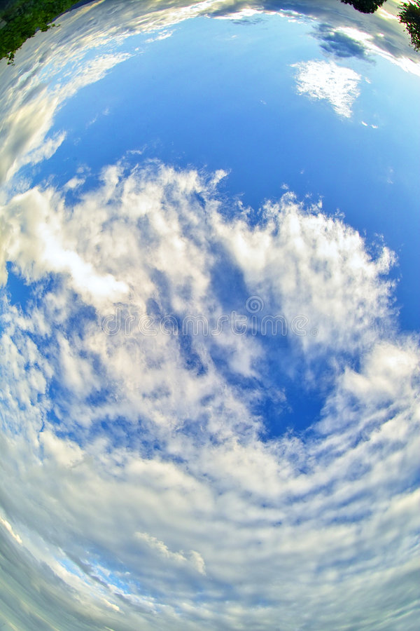 ноги мое небо вниз стоковое изображение