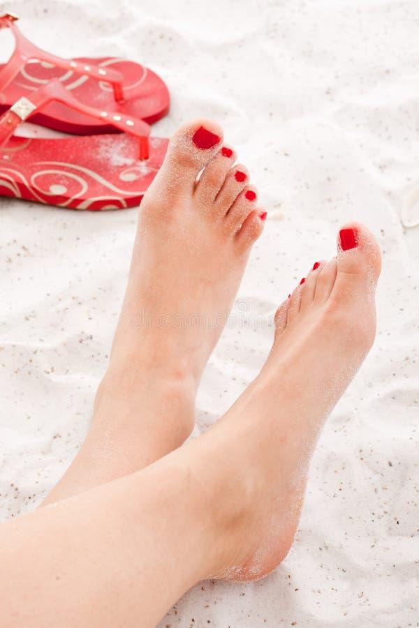 ноги ослабляя стоковая фотография rf