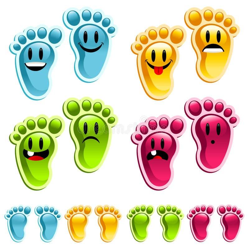 ноги счастливого smiley иллюстрация вектора