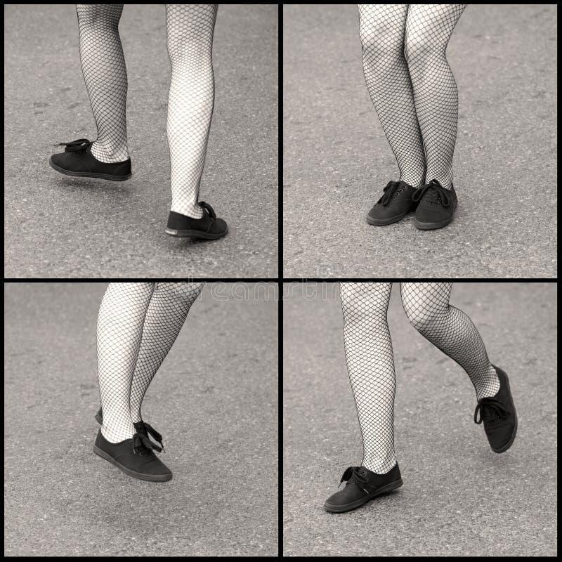 ноги танцы стоковая фотография rf